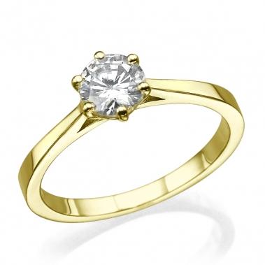 טבעת יהלום סוליטר- Connection S