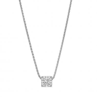 תליון יהלומים מרובע- Royal Square Minimal