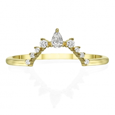 טבעת נזר 9 היהלומים- Tiara 9 diamonds ring