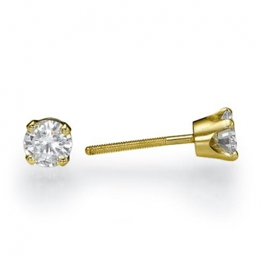 עגילי יהלומים צמודים לאוזן- Crown 0.73