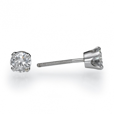 עגילי יהלומים צמודים לאוזן- Crown 0.52 קרט