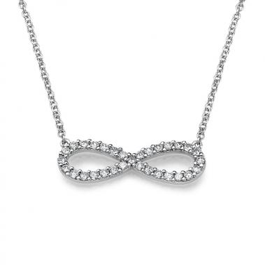 תליון יהלומים אינפיניטי / נצח- Infinity Pendant