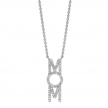 תליון יהלומים MOM diamonds pendant