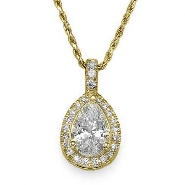 תליון יהלומים טיפה- Royal Pear Diamond
