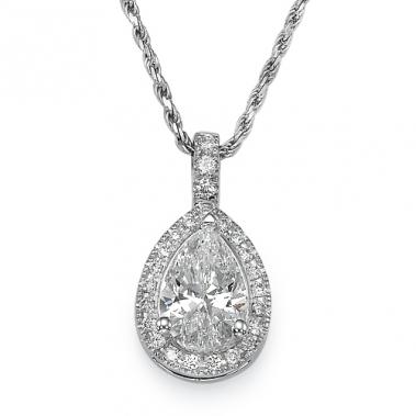 תליון יהלומים טיפה- Royal Pear