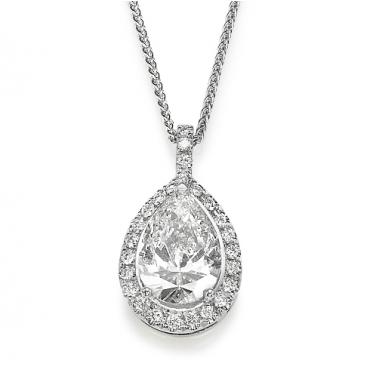 תליון יהלומים יוקרתי טיפה- Royal Pear