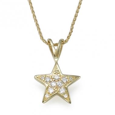תליון יהלומים כוכב-Star 0.13y