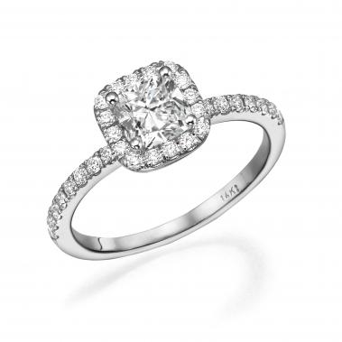 טבעת אירוסין- Cushion Halo Design W