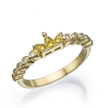 טבעת כתר יהלומים- Crwon YWD