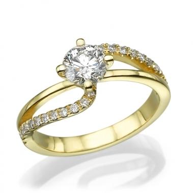טבעת יהלומים טוויסט- Emotion