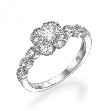 טבעת יהלומים פרח-  Flowering