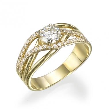 טבעת יהלומים מעוצבת- Precious