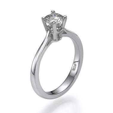טבעת יהלום סוליטר - Romance 0.81w