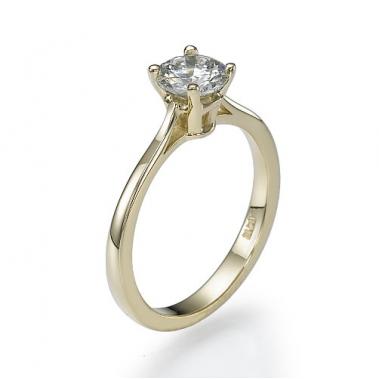 טבעת יהלום סוליטר- Romance