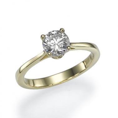 טבעת יהלום סוליטר- Romance 0.70Y
