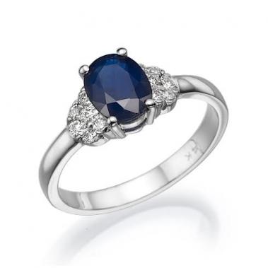 טבעת ספיר ויהלומים- Sapphire and Diamonds