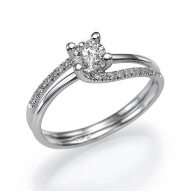 טבעת יהלומים טוויסט- Spiritual 047W