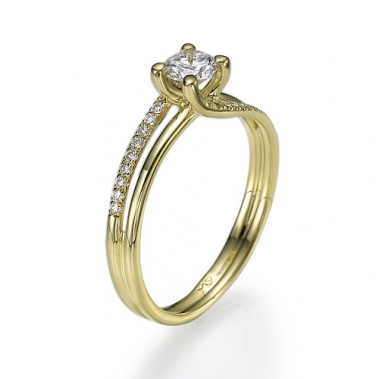 טבעת יהלומים טוויסט- Spiritual