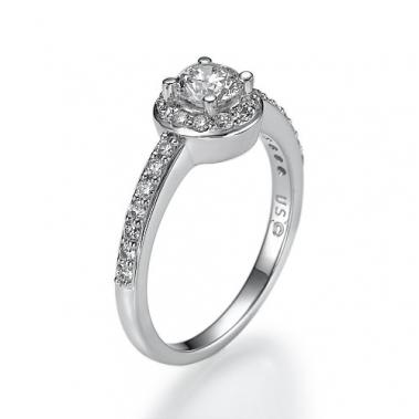 טבעת אירוסין הלו- Sunshine 087w