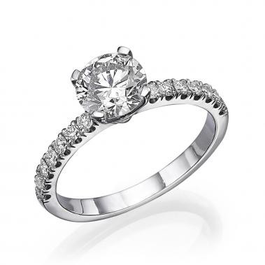 טבעת יהלומים- Tulip