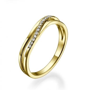 טבעת בעיצוב מיוחד גלים- Waves