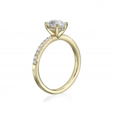 טבעת יהלום אובל- Oval Diamonds Basket